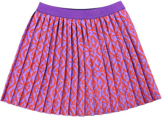 Gucci Skirt With G Pattern Rhombus Jacquard In Lame