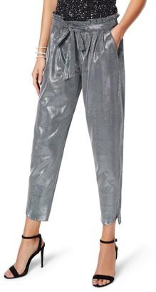 Ramy Brook Allyn Metallic Tie Waist Pants