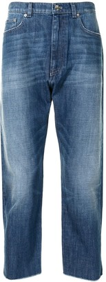No.21 Faded Cropped Jeans