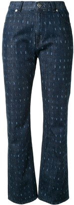 Victoria Victoria Beckham Wordsearch print cropped jeans