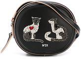 No.21 embellished cat crossbody bag