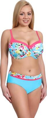 Merry Style Womens Bikini Set P190-57MIA (Pattern-2 EU(Cup 75 F/Bottom 38)=UK(34F/10))