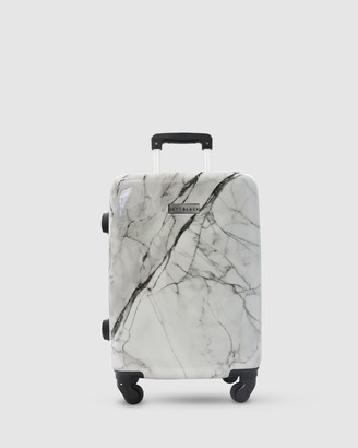Jett Black White Marble Carry On Suitcase