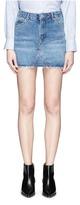 Topshop 'Moto' high waist mini denim skirt