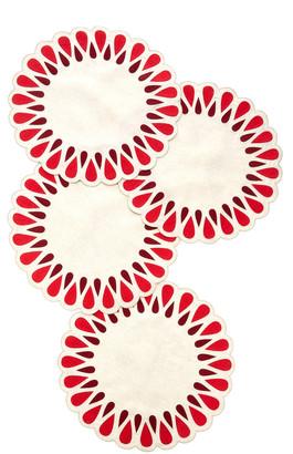 Los Encajeros Set-Of-Four Drops Linen Placemats