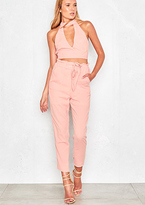 Missy Empire Maile Pink Cut Out Detail Trouser Co-Ord
