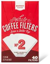 market pantry White Cone #2 Coffee Filters 40 Count