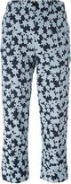 Julien David cropped floral trousers - women - Silk/Cotton/Polyester - S