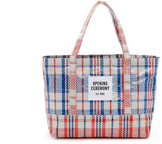 Opening Ceremony Small Plaid Tote Bag