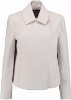 Halston Wool-blend felt coat
