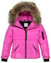 SAM. Girls' Fur-Trimmed Puffer Coat - Little Kid