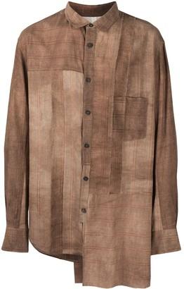 Ziggy Chen Patchwork Asymmetric Shirt