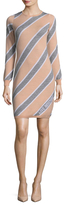 Love Moschino Diagonal Striped Wool Sweater Dress