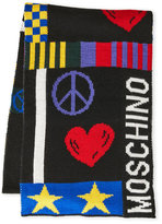 Moschino Peace and Love Knit Scarf