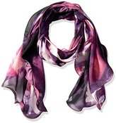 Calvin Klein Women's Lily and Orchid Print Ruffle Scarf