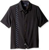 Nat Nast Men's Novelty Traditional Fit Silk Blend Short Sleeve Shirt