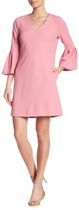 Donna Morgan Bell Sleeve Shift Dress