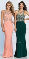 Dave and Johnny Cut Out Racer Back Embellished Prom Dress