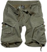 Brandit Men's Vintage Army Style Combat Premium Washed Cotton Cargo Shorts