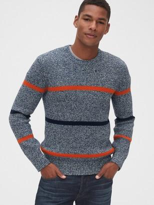 Gap Marled Stripe Crewneck Sweater