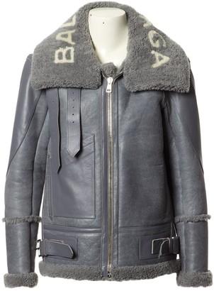 Balenciaga Grey Shearling Jackets