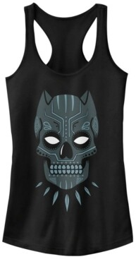 Fifth Sun Marvel Women's Black Panther Sugar Skull Racerback Tank Top