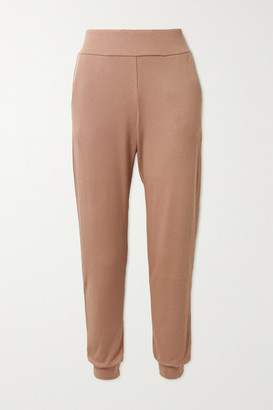 Commando Luxury Ribbed Stretch Modal And Pima Cotton-blend Track Pants - Neutral