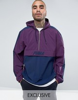Puma Vintage Half-Zip Jacket In Purple Exclusive to ASOS