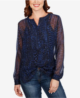 Lucky Brand Sheer Printed Shirt