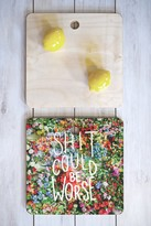 DENY Designs Shit Could Be Worse Floral Typography Cutting Board