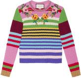 Gucci embroidered multicolour knit top - women - Nylon/Wool/Merino/Metallized Polyamide - S