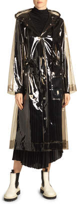 Proenza Schouler White Label Hooded Transparent Raincoat