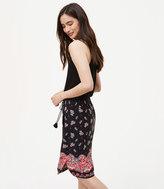 LOFT Sunset Paisley Drawstring Skirt