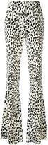 Roberto Cavalli flared leopard print trousers - women - Cotton/Viscose/Spandex/Elastane - 44