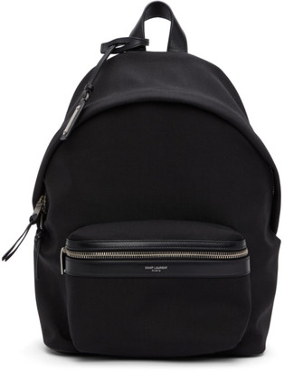 Saint Laurent Black Mini City Backpack