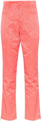 Marine Serre Textural-Jacquard Cropped Trousers
