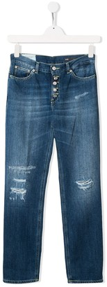 Dondup Kids Distressed Denim Jeans