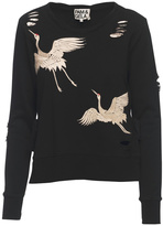 Pam & Gela Embroidered Crane Sweatshirt