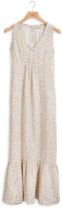 Faherty Sapphira Floral Linen Dress