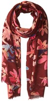 Bindya Cashmere/Silk Floral Mixed Print Scarf Scarves