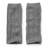 Cuddl Duds Girls 4-16 Cable Texture Sequin Leg Warmers