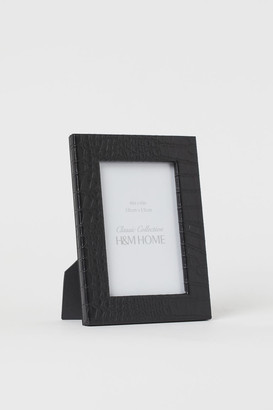 H&M Faux Leather Photo Frame - Black