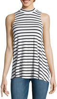 Fire Sleeveless Marled Hatchi Striped Mockneck Top - Juniors