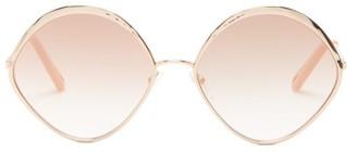 Chloé Dani Round Metal Sunglasses - Womens - Rose Gold