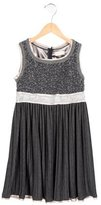 MonnaLisa Girls' Sequined-Accented Pleated Dress