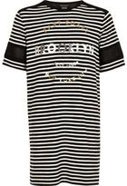 River Island Girls black Brooklyn print dress