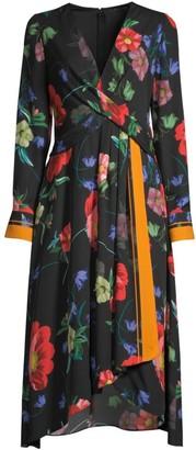 Kobi Halperin Zula Floral-Print Tie-Waist Dress