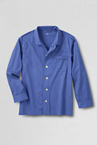 Classic Men's Big Broadcloth Pajama Shirt-Sail Blue Stripe