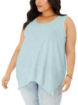 Style&Co. Style & Co Petite Sleeveless Handkerchief-Hem Top, Created for Macy's