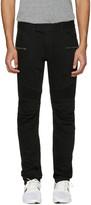 Balmain Black Biker Rib Jeans